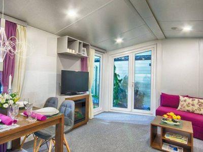 Mobilheim Lark Ibiza winter fest wohn wagen dauer camping caravan ...