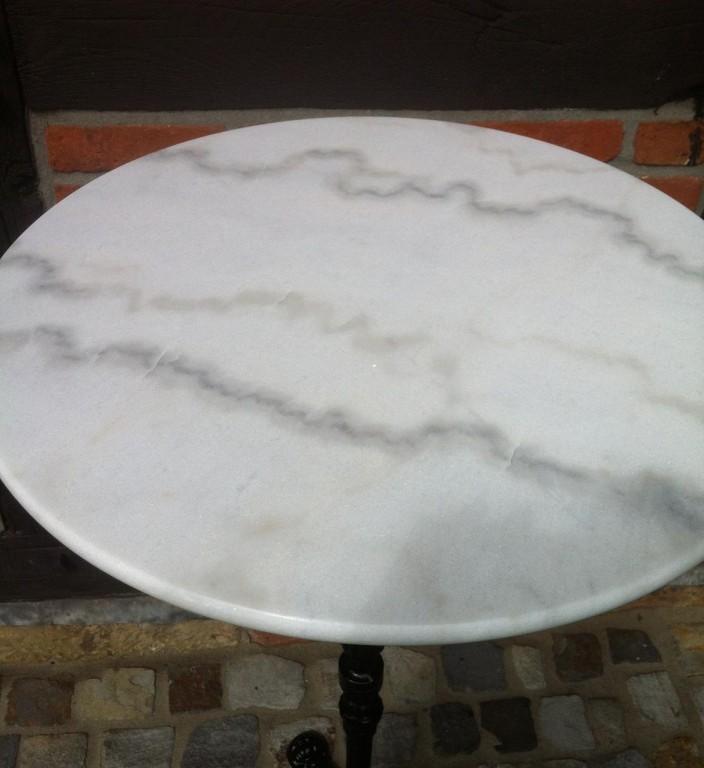 Sonderangebot 10x bistrotisch cafetisch marmor rund 60cm for Marmorplatte rund