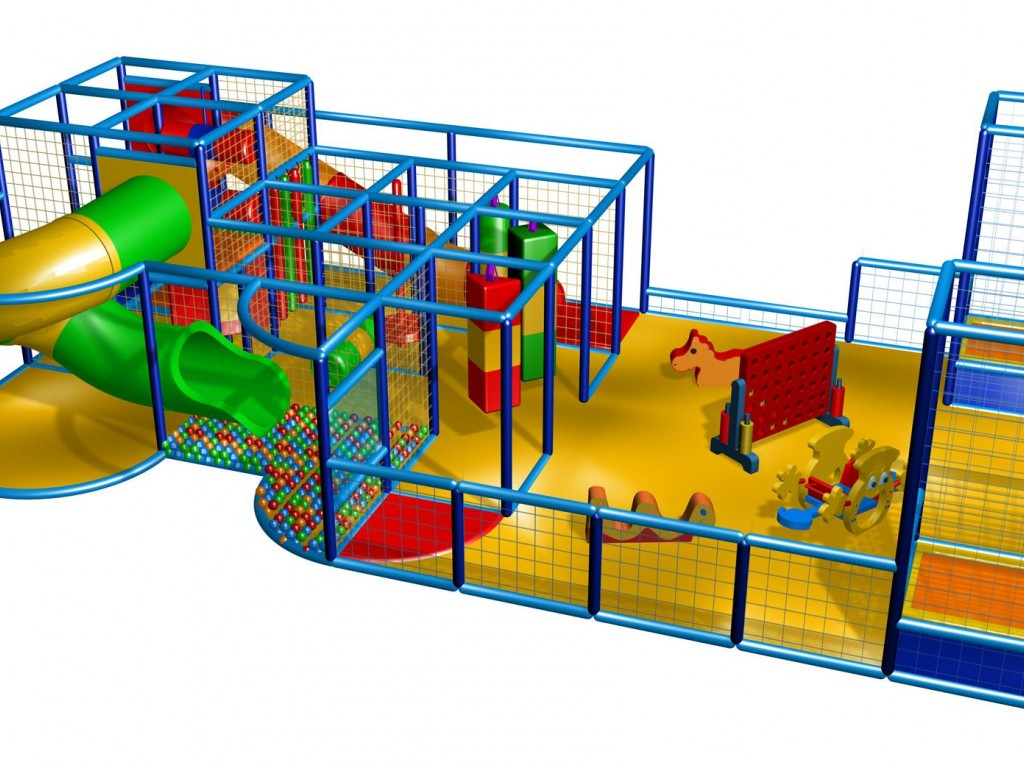 Indoorspielplatzauflösung /Klettergerüst, Spielturm ...