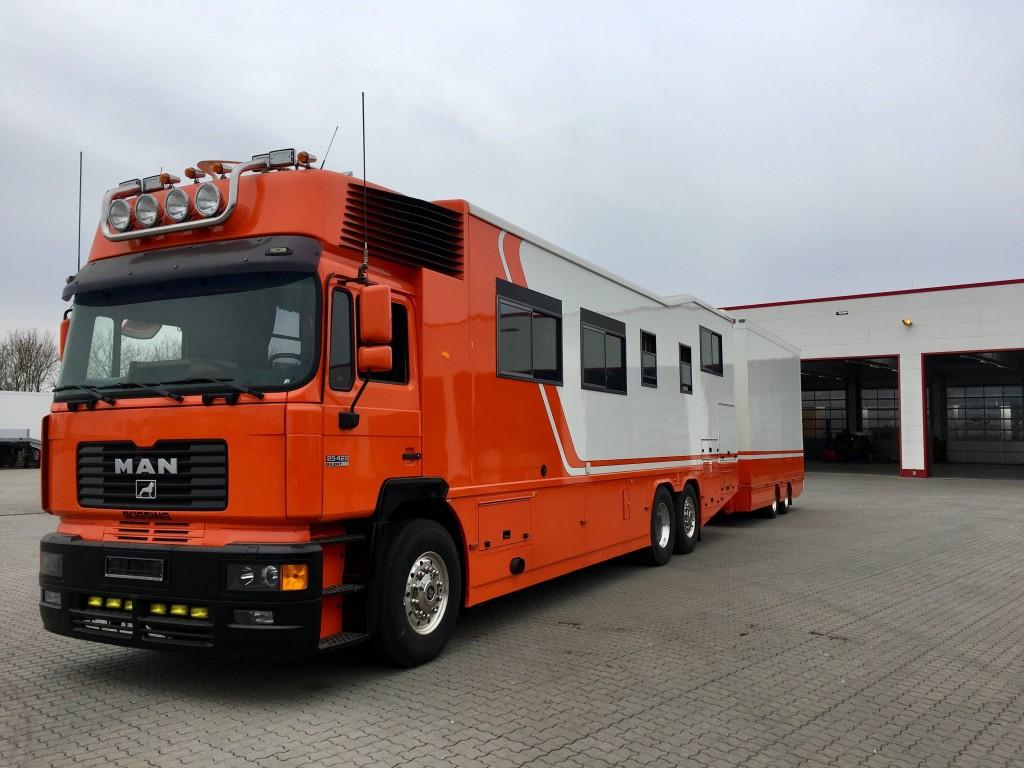 MAN Wohnmobil Zug mit Tandem Anhänger,360 PS, UNIKAT!!! (Angebot)