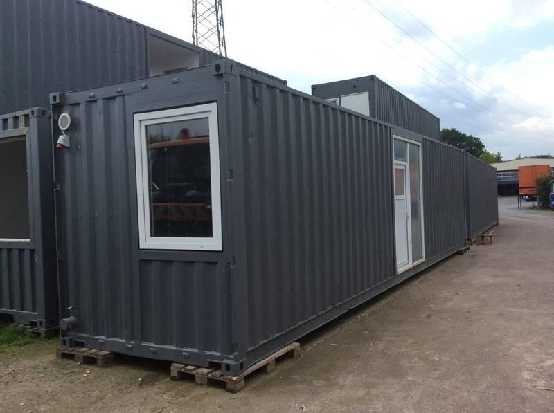 b rocontainer wohncontainer mit dusche wc neu 12 50 m. Black Bedroom Furniture Sets. Home Design Ideas