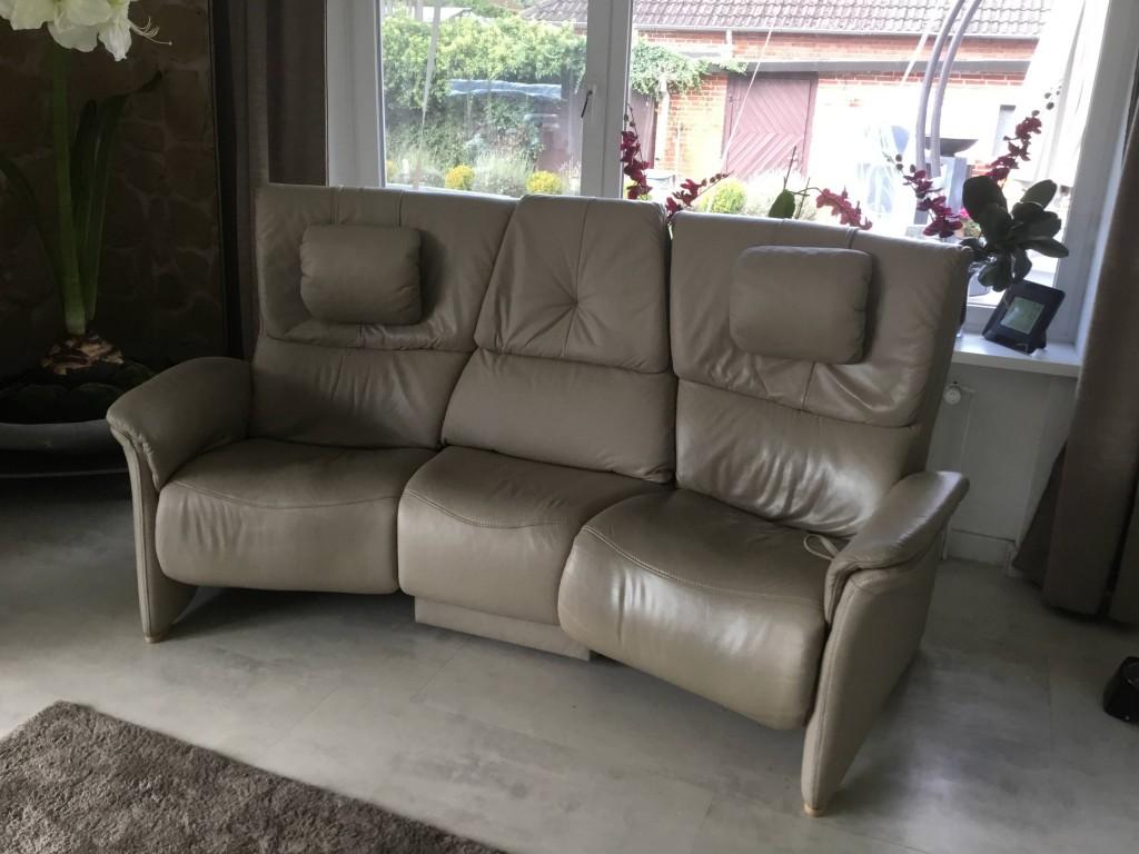Himolla Designer Trapez Sofa Couch Kinositze Longlife Leder