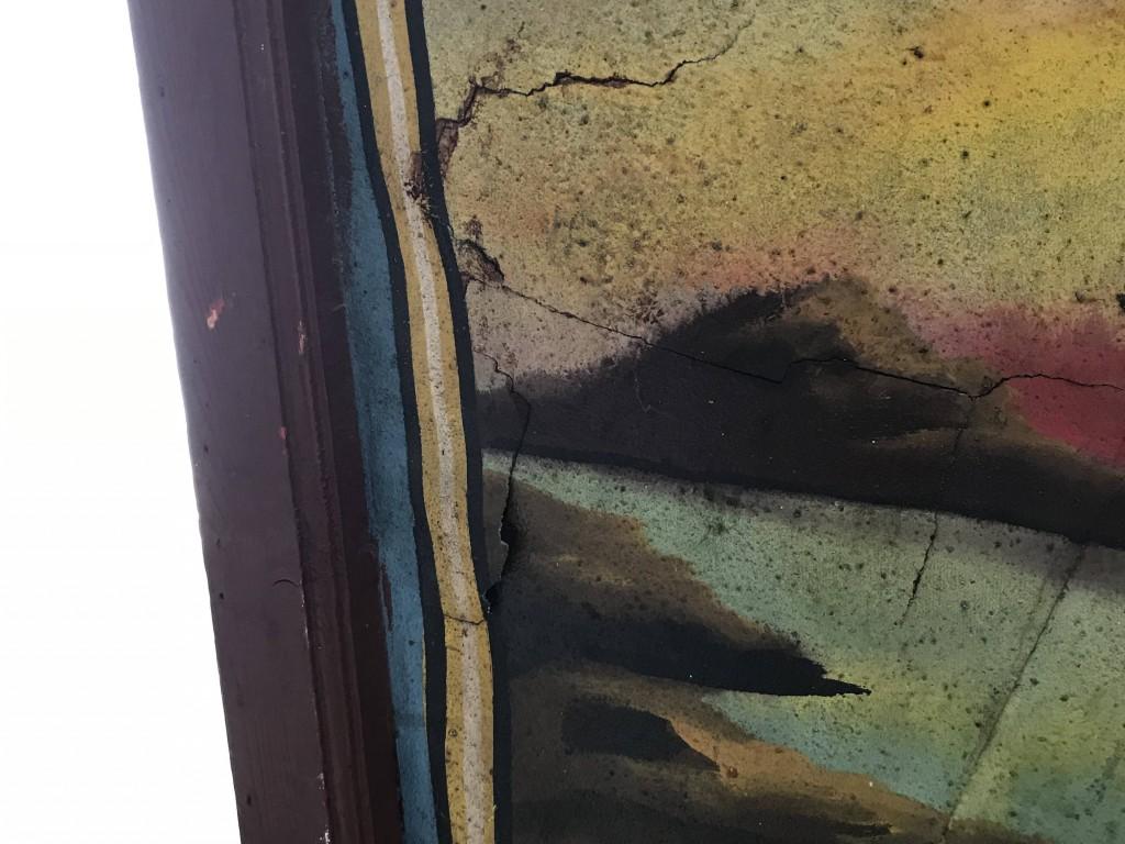 Antike karussell dekoration frontschild bemalt for Antike dekoration