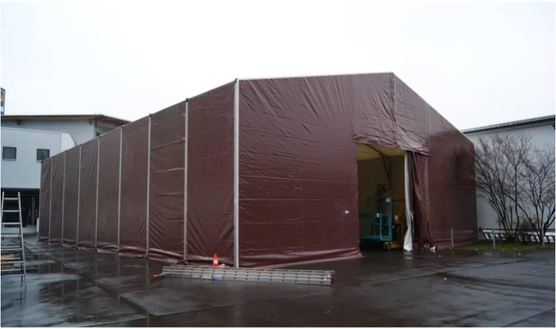 lagerzelt 7 5 x 15 m industriezelt zelthalle. Black Bedroom Furniture Sets. Home Design Ideas