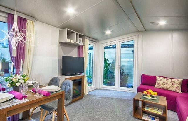 Mobilheim Lark Ibiza winter fest wohn wagen dauer camping ...