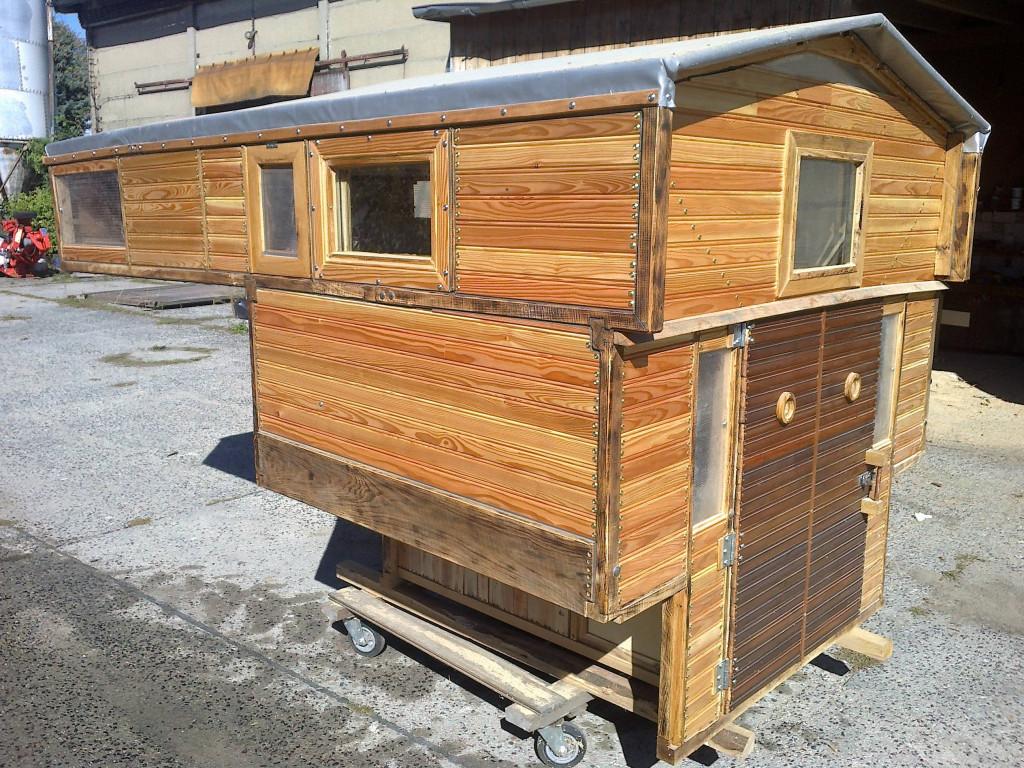 wohnkabine absetzkabine aus holz f r pick up. Black Bedroom Furniture Sets. Home Design Ideas