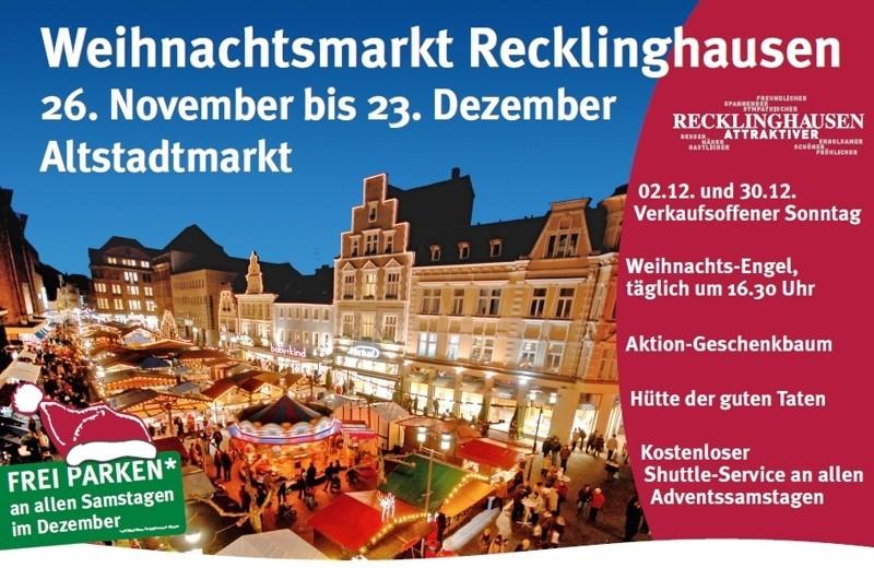 Weihnachtsmarkt Recklinghausen.Weihnachtsmarkt Recklinghausen
