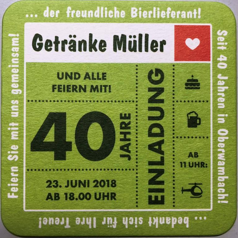 40 Jahre Getränke Müller